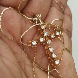 Real 14kt Gold Diamonds Necklace